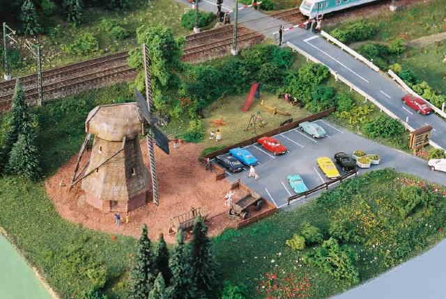 Das Gelände des Mühlenmuseums aus der Luft